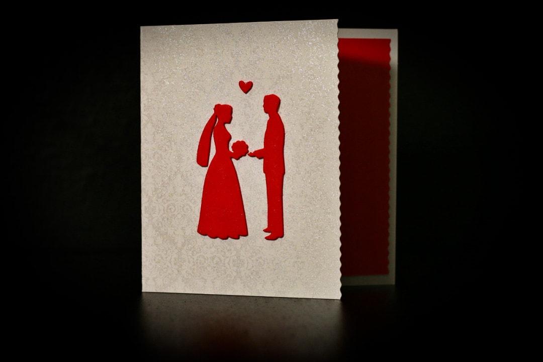 invitatie nunta mire si mireasa silver, red - invitatii nunta personalizate-grand-media.ro