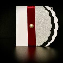invitatie nunta alb, negru si argintiu - invitatii nunta personalizate-grand-media.ro