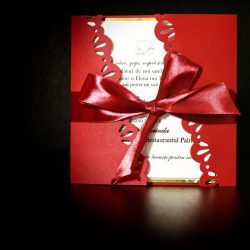 invitatie nunta gatefold diagonala rosu - invitatii nunta personalizate-grand-media.ro